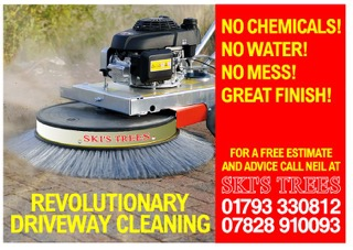 New Machine for Driveway Cleaning - no chemicals, no water no mess,